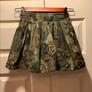Children's Place Camo with flowers skirt